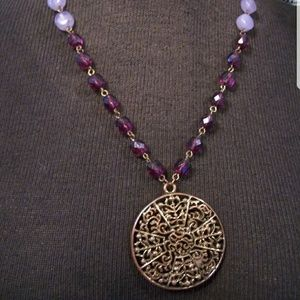 Beautiful Art Nouveau Medalion VTG Necklace